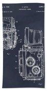 1960 Rolleiflex Photographic Camera Blackboard Patent Print Beach Towel