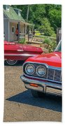1964 And 1963 Chevrolet Impala Convertibles Beach Towel