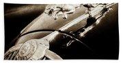 1964 Jaguar Mk2 Saloon Hood Ornament And Emblem-1421bscl Beach Towel