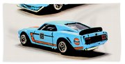 1969 Ford Mustang Boss 302 Beach Towel