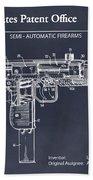 1982 Uzi Submachine Gun Blackboard Patent Print Beach Towel