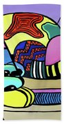 A Cat Named Picasso Beach Towel by Anthony Falbo