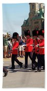 Changing Of The Guard In Ottawa Ontario Canada Beach Sheet