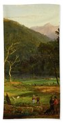 Eagle Cliff, Franconia Notch, New Hampshire Beach Towel