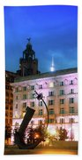 Liverpool's Historic Waterfront Beach Towel