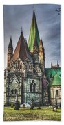 Nidaros Cathedral Beach Towel