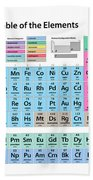 Periodic Table Of Elements Beach Towel by Michael Tompsett