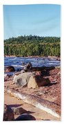 Shores Of Lake Superior Beach Towel