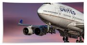United Airlines Boeing 747-422 Beach Sheet