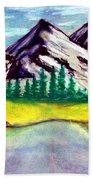 2019#01_mountain Lake Beach Towel