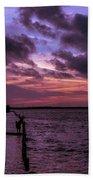 Cool Autumn Evening Beach Towel