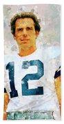 Dallas Cowboys.roger Thomas Staubach. Beach Towel