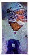 Dallas Cowboys.troy Kenneth Aikman Beach Towel