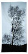 Moody Winter Landscape Image Of Skeletal Trees In Peak District  Beach Towel