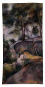 Rocks In The Forest  Beach Towel