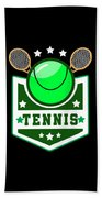 Tennis Player Tennis Racket I Love Tennis Ball Beach Towel