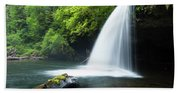 Waterfall In A Forest, Samuel H Beach Towel