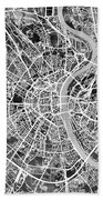 Cologne Germany City Map Beach Towel