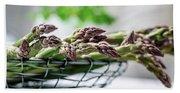Fresh Green Asparagus Beach Sheet