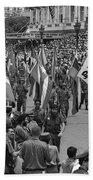 60th Anniversary Of Russian Socialist October Revolution Beach Towel