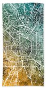 Milan Italy City Map Beach Towel