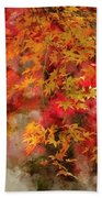Digital Watercolor Painting Of Beautiful Colorful Vibrant Red An Beach Towel