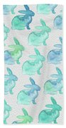 Watercolor Bunnies 1i Beach Towel