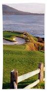 7th Hole At Pebble Beach Golf Links Beach Towel