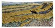 Enclosed Field With Ploughman -  Beach Towel