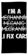 Funny Mechanic Car Auto Apparel Beach Towel