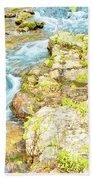 Pocono Mountain Stream, Pennsylvania Beach Towel