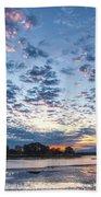 Danvers River Sunset Beach Towel