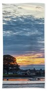 Danvers River Sunset Beach Towel