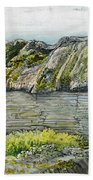 A Barn With A Mossy Roof, Shoreham - Digital Remastered Edition Beach Towel