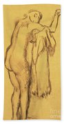 A Bather Drying Herself By E Degas Beach Towel
