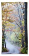 A Canopy Of Autumn Leaves Beach Towel
