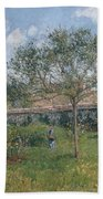 A Corner Of The Meadow At Eragny, 1902 Beach Towel