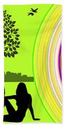 A Day In The Park Beach Towel