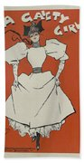 A Gaiety Girl, 1894 French Vintage Poster Beach Sheet