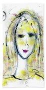 A Girl By The Artist Catalina Lira Beach Towel