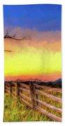 A Gorgeous Blue Ridge Sunrise Ap Beach Towel