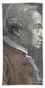 A Portrait Of Immanuel Or Emmanuel Kant Beach Towel