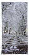A Snowy Scene Beach Towel
