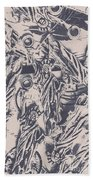 A Souvenir Of Statues Beach Towel