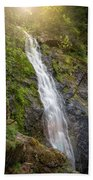A Touch Of Light On Bridal Veil Falls Beach Towel
