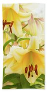 A Tower Of Lilies Beach Towel