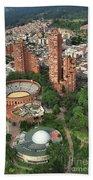 A View Of Downtown Bogota Beach Towel
