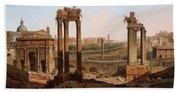 A View Of The Forum Romanum Beach Sheet