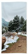 A Winter's Day In The Flatirons Beach Towel