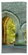 Abbey Gateway St Albans Hertfordshire Beach Towel
